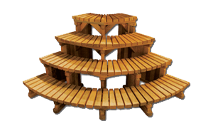Four tier corner steps